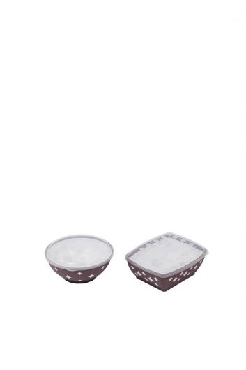 Star Round and Square Bowl Cover Set - Thumbnail