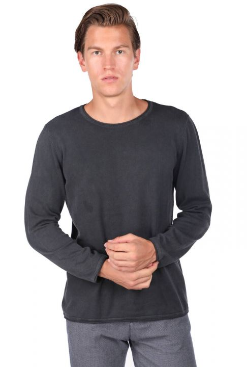 Plain Crew Neck Men's Sweatshirt
