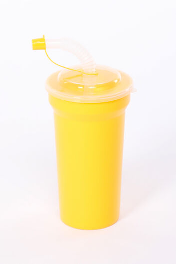 Cup With Straw With Lid - Thumbnail