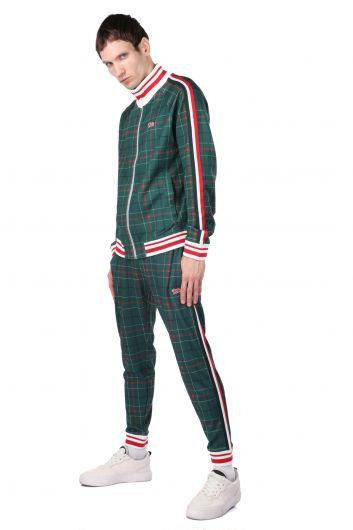 LONSDALE - Stripe Detailed Elastic Plaid Men's Tracksuit Set (1)