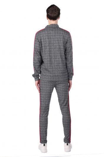 MARKAPIA MAN - Мужской спортивный костюм в клетку в полоску (1)