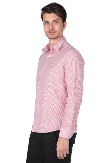MARKAPIA - قميص رجالي مخطط (1)
