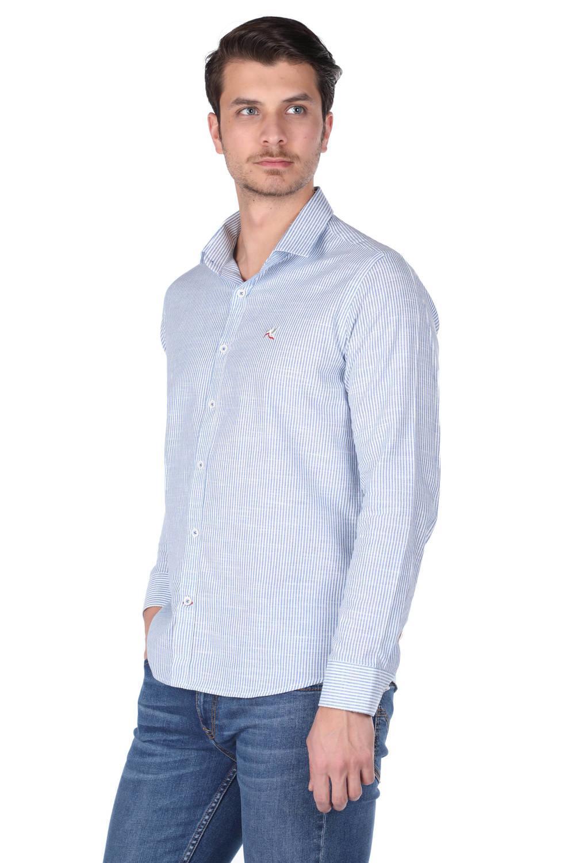 Полосатая мужская рубашка