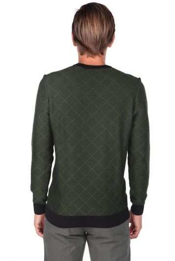 Striped Crew Neck Sweater - Thumbnail