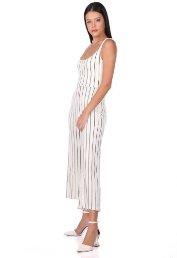 MARKAPIA WOMAN - Striped Strappy Overalls Trousers (1)