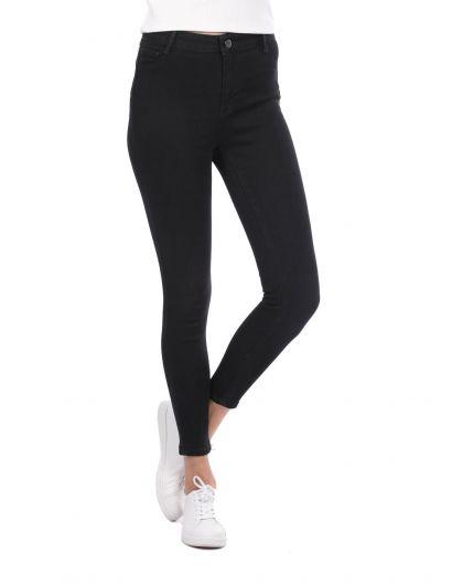 Super Skinny Women Black Jean Trousers - Thumbnail