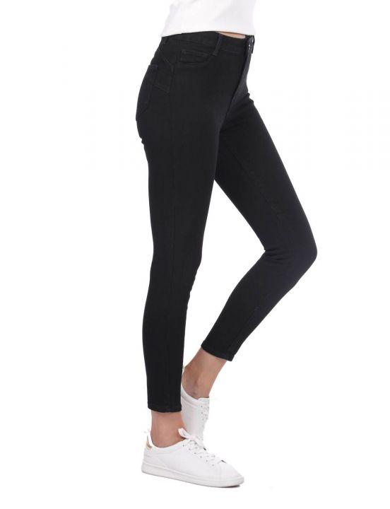Super Skinny Women Black Jean Trousers
