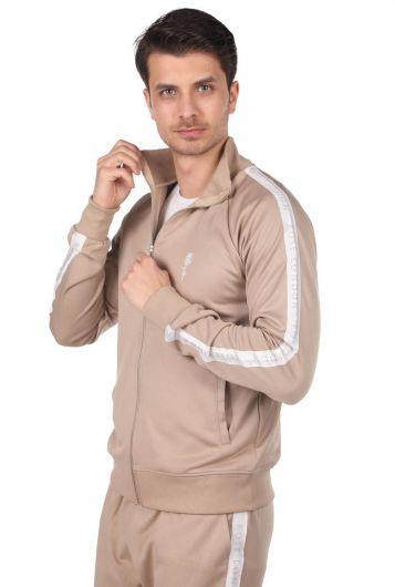 ROSE LONDON - Мужской спортивный костюм с высоким воротником и полосками по бокам (1)
