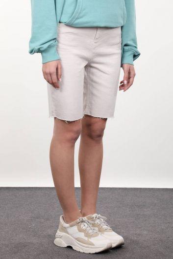 MARKAPIA WOMAN - Taş Rengi Kadın Jean Şort (1)