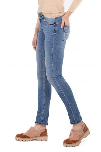 Banny Jeans - Taşlanmış Slim Fit Kadın Jean Pantolon (1)