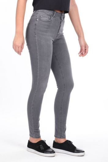 MARKAPİA WOMAN - Stone Detailed Skinny Fit Jean Trousers (1)
