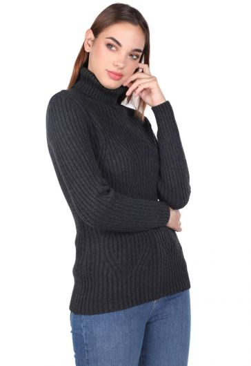 MARKAPIA WOMAN - Turtleneck Thick Knitwear Sweater (1)