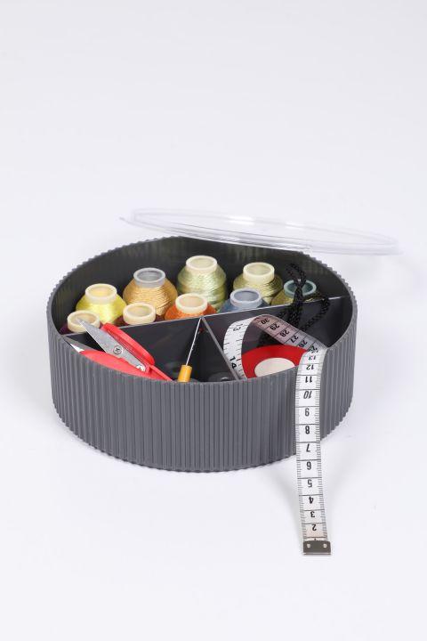 Шкатулка для шитья и драгоценностей с тремя отделениями