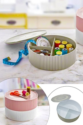 Three Compartment Sewing / Jewelry Box - Thumbnail