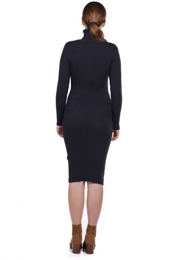 MARKAPIA WOMAN - Turtleneck Thick Knitwear Straight Dress (1)