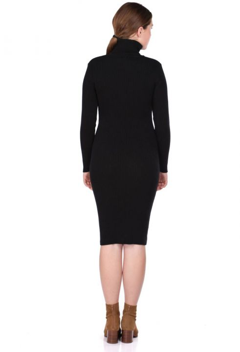 Turtleneck Thick Knitwear Dress