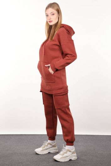 MARKAPIA WOMAN - Женский спортивный костюм из плитки с карманами-карго (1)
