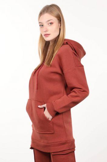 MARKAPIA WOMAN - Женский свитшот со смокингом и плиткой (1)
