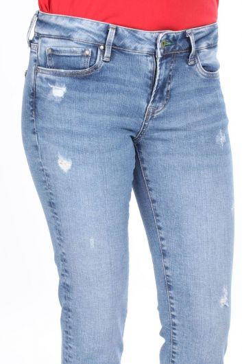 Ripped Detailed Boyfriend Jeans - Thumbnail