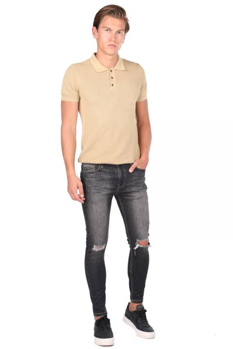 Ripped Skinny Fit Men's Jean Trousers