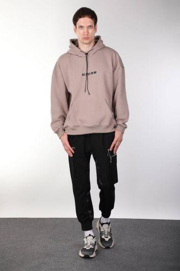 Tupac Baskılı Kapüşonlu Erkek Sweatshirt - Thumbnail