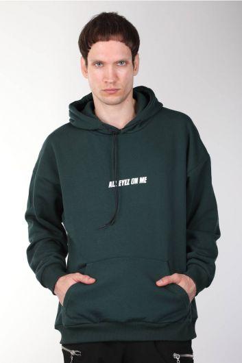Tupac Printed Hooded Oversized Men's Sweatshirt - Thumbnail