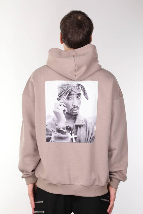 Tupac Printed Hooded Men's Sweatshirt