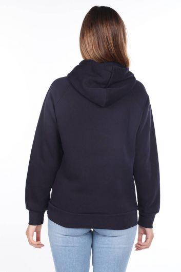MARKAPIA WOMAN - University Applique Fleece Hooded Sweatshirt (1)