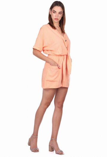 MARKAPIA WOMAN - سروال قصير بياقة على شكل V (1)