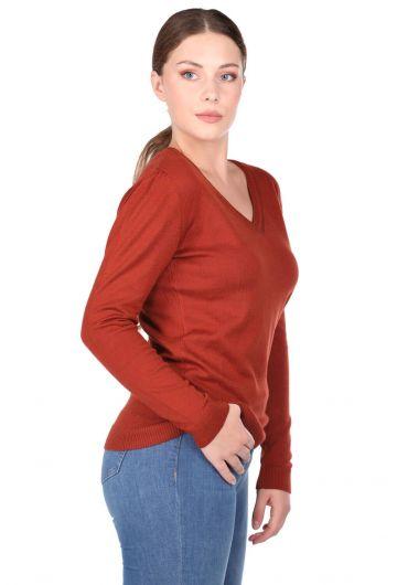 MARKAPIA WOMAN - Женский трикотажный свитер с V-образным вырезом (1)