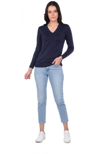 MARKAPİA WOMAN - V-NECK KNIT SWEATER (1)