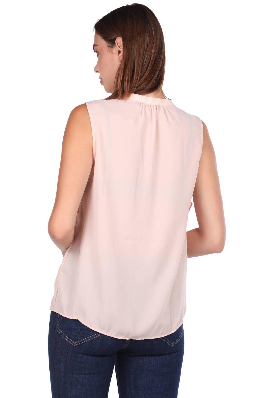 V Yaka Volan Detaylı Bluz