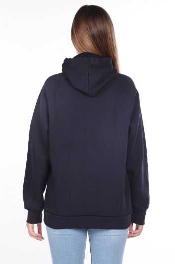 MARKAPIA WOMAN - Vıenna Austrıa Aplikeli İçi Polarlı Kapüşonlu Sweatshirt (1)