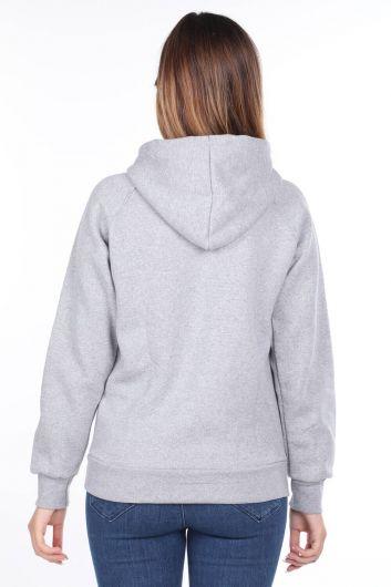 MARKAPIA WOMAN - Vıenna Austrıa Aplikeli İçi Polarlı Kapüşonlu Kadın Sweatshirt (1)