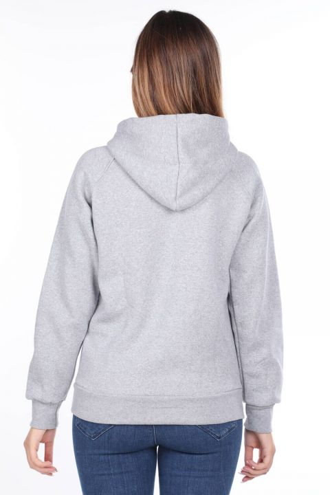 Vıenna Austria Applique Fleece Hooded Sweatshirt