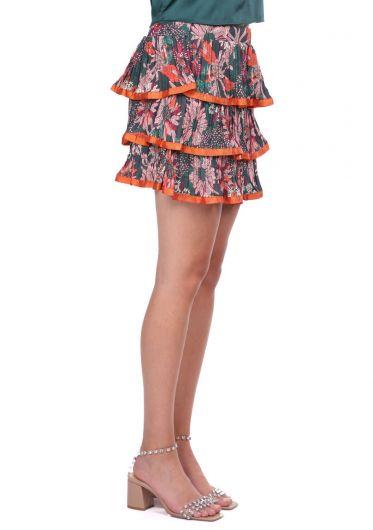 MARKAPIA WOMAN - Многослойная плиссированная юбка с оборками (1)