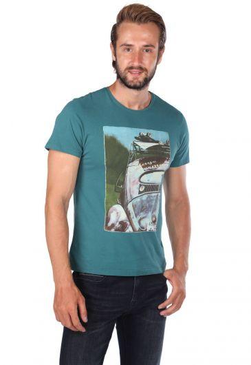 MARKAPIA MAN - Мужская футболка с круглым вырезом и принтом Vosvos (1)