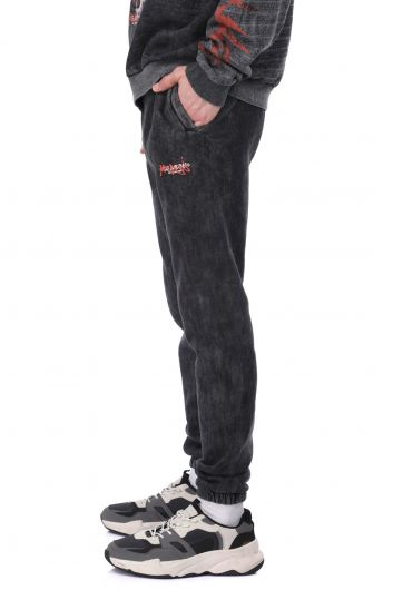 MARKAPIA MAN - Printed Men's Sweatpants With Fleece And Elastic Waist And Cuff (1)