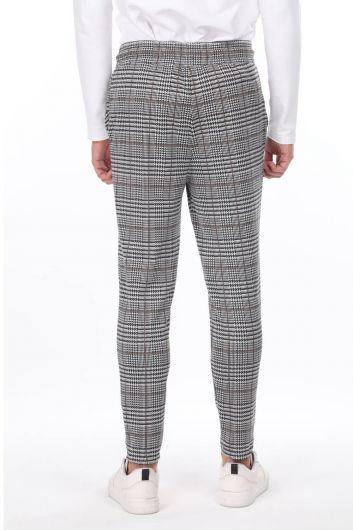 Мужские спортивные штаны в клетку Corded Belden в клетку - Thumbnail
