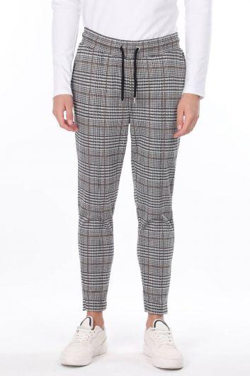 Corded Belden Plaid Men's Sweatpants - Thumbnail