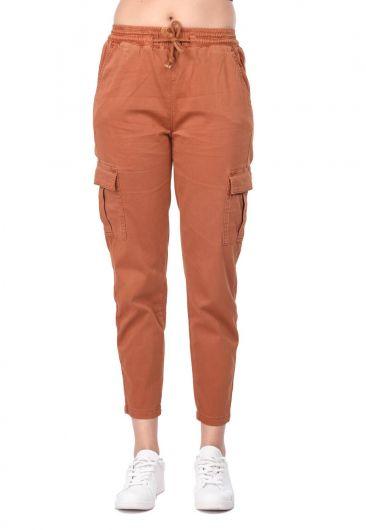 Banny Jeans - Elastic Waist Cargo Pocket Jeans (1)