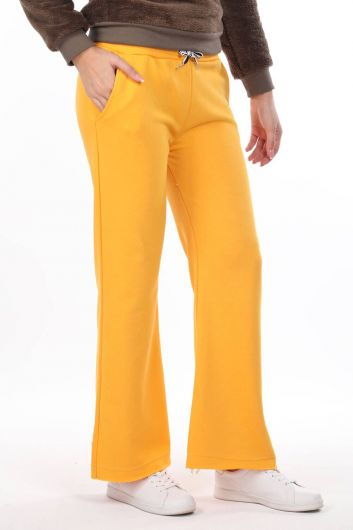 MARKAPIA WOMAN - Elastic Waist Spanish Trousers Yellow Women's Sweatpants (1)