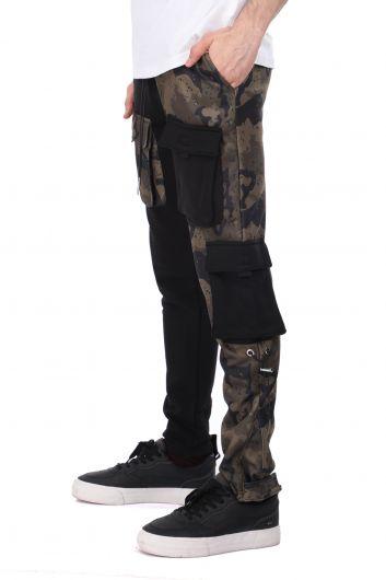 MARKAPIA MAN - Двухцветные мужские спортивные штаны из флиса с эластичной резинкой на талии (1)