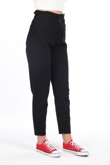 MARKAPIA WOMAN - Женские джинсовые брюки со сборками на резинке на талии (1)