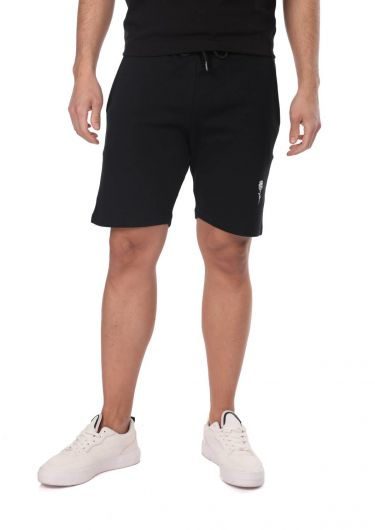 ROSE LONDON - Strap Men's Shorts-Pink-Black (1)