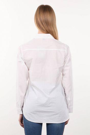 White Boyfriend Woman Shirt - Thumbnail