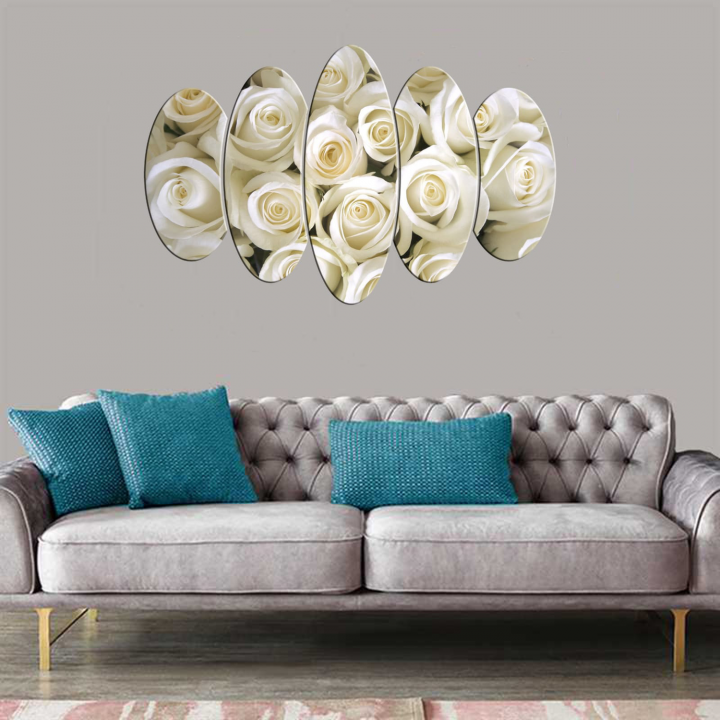 White Rose 5 Piece Mdf Table