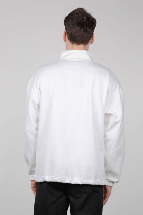 Черная мужская толстовка на молнии с карманами