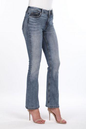 MARKAPIA WOMAN - Женские джинсовые брюки с широкими штанинами (1)