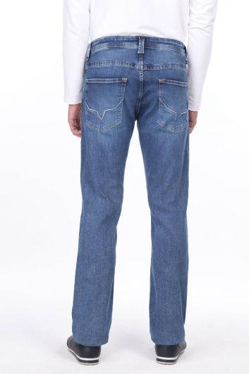 Wide Leg Men's Jean Trousers - Thumbnail